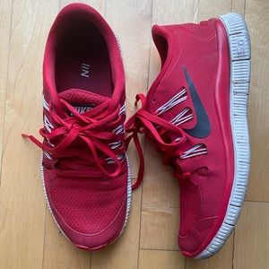 Nike Free 5.0 Sneakers Red